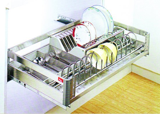 Kitchen Cabinet Accessory : Multi Function Drawer Basket