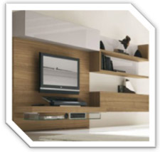 Living Room Design Cabinet TV In Kuala