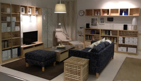 Living room design, living room with TV cabinet, living room bookshelves and display cabinet